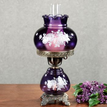 Nicci Purple Glass Table Lamp