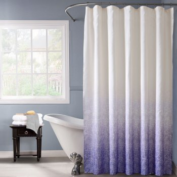 Violet Purple Ombre Shower Curtain