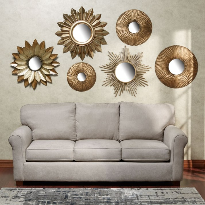 Mirrored Metal Wall Art Collage