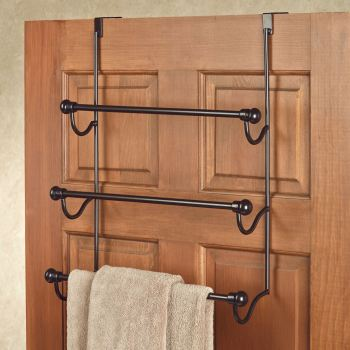 Over-the-Door Bathroom Towel Rack