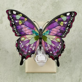 Purple Butterfly Nightlight