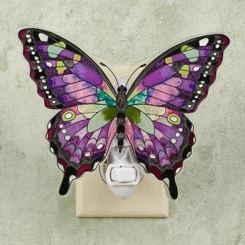 Purple Butterfly Nightlight
