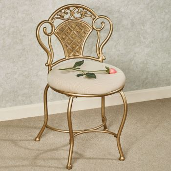 Claira Gold Vanity Chair