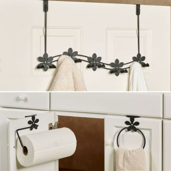 Flower Over-the-Door Rack and Hangers Set