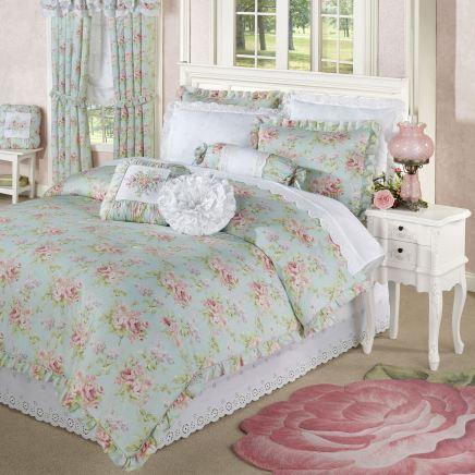 Cottage Rose Floral Comforter Set