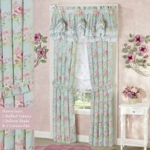 Cottage Rose Floral Curtains