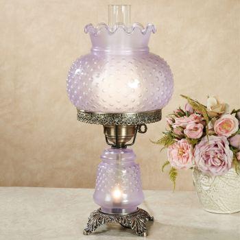 Mindy Lavender Hobnail Lamp