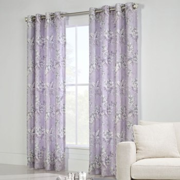 Jana Lavender Grommet Curtain Panel