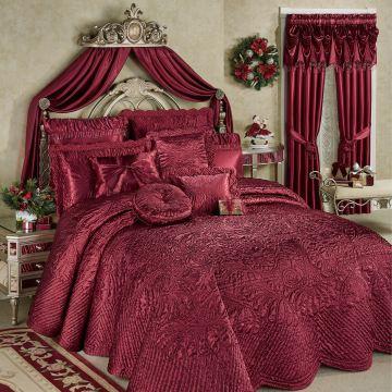 Portia II Ruby Bedspread Bedding