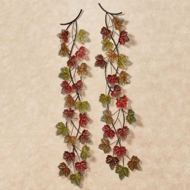 Falling Leaves Metal Wall Art Set