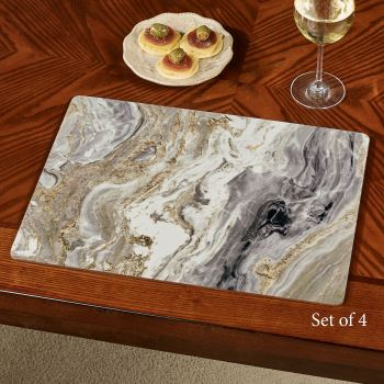 Quartz Marbled Design Hardboard Placemats