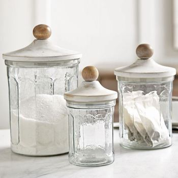 Fluted Kitchen Canister Set