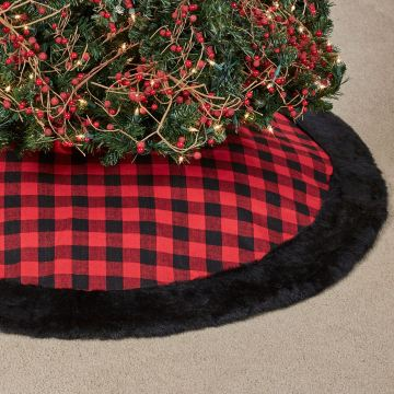 Buffalo Plaid Christmas Tree Skirt