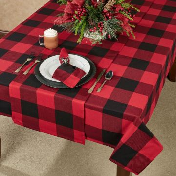 Buffalo Plaid Table Linens