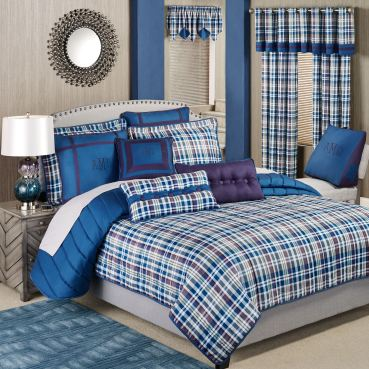 Stratton Plaid Coverlet Bedding