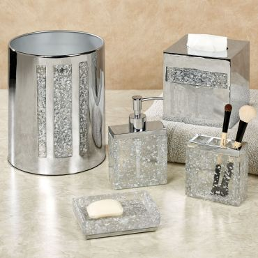 Enlighten Silver Bath Accessories