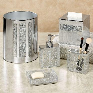 Enlighten Silver Bath Accessories