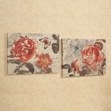 Charming Floral Garden Wall Art Set