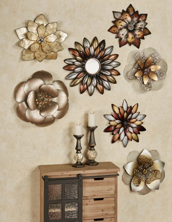 Metallic Flower Wall Art Collage