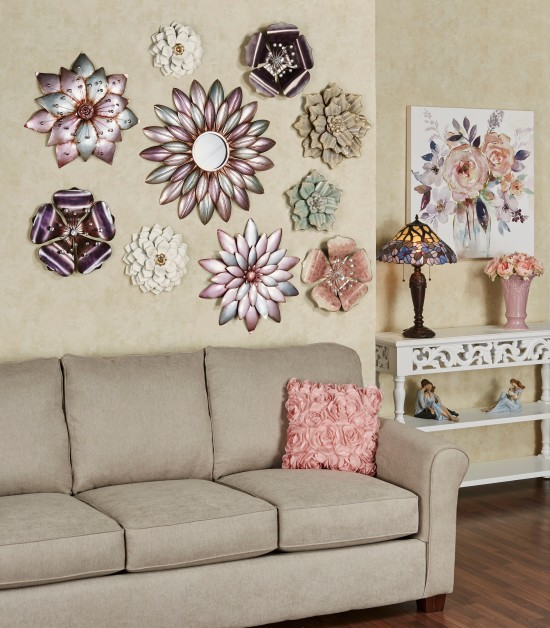 Pastel Flower Wall Art Collage