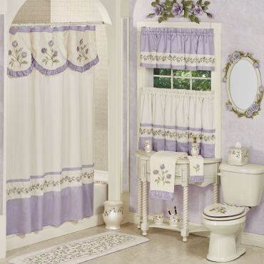 Lavender Rose Floral Shower Curtain