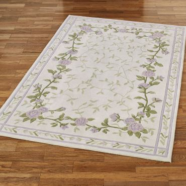 Lavender Bloom Floral Area Rug