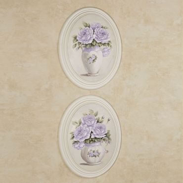 Adelaide Lavender Rose Wall Plaque Set