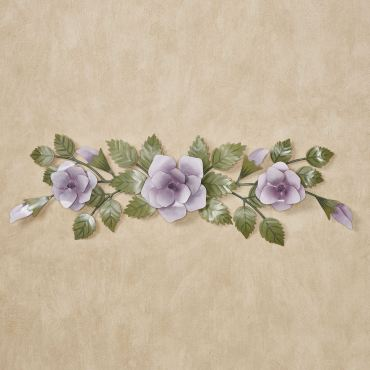 Lavender Rose Swag Wall Topper