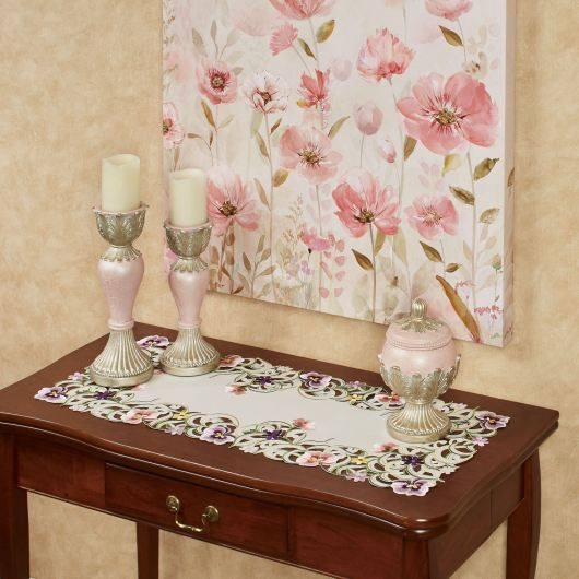 Pansy Patch Floral Table Runner