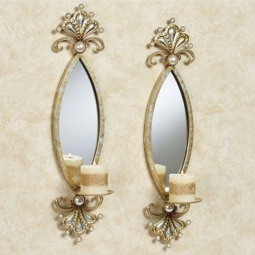 Giorgianna Pearl Mirrored Wall Sconce Pair
