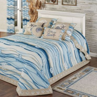 Coastal View Bedspread Bedding