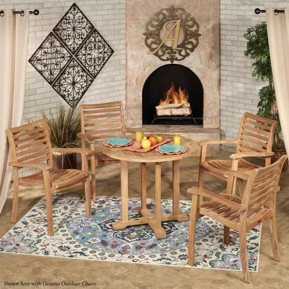 Oceana Teak Wood Round Table