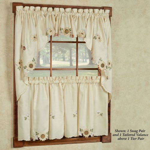 Sunflower Tier Window Treatment