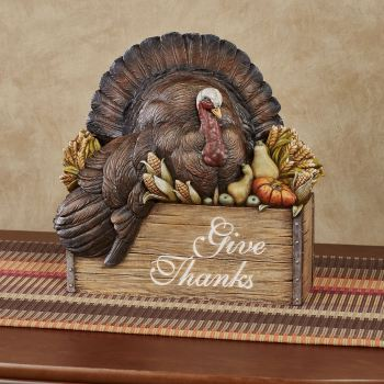 Give Thanks Turkey Table Accent