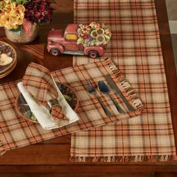 Gather Together Plaid Table Linens