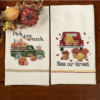 Fall Harvest Kitchen Dish Towel Set