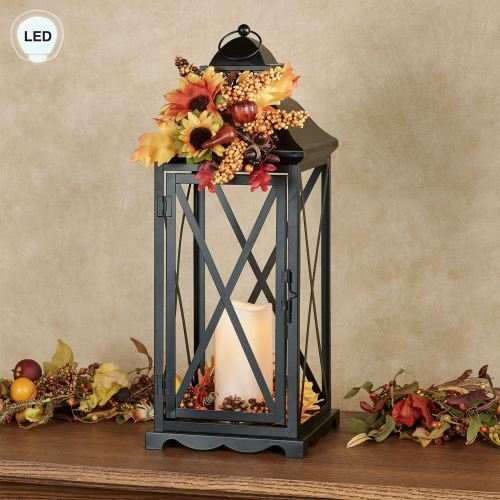 Country Lane Autumn LED Lighted Candle Lantern