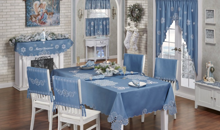 Snowfall Winter Dining Room