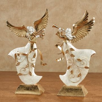 Winter's Elegance Angel Figurine Set