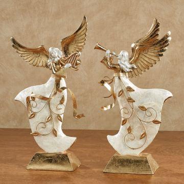 Winter's Elegance Angel Figurine Set