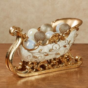 Winter's Elegance Sleigh Holder Centerpiece