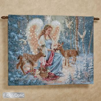 Dona Gelsinger Oh Holy Night Angel Wall Tapestry
