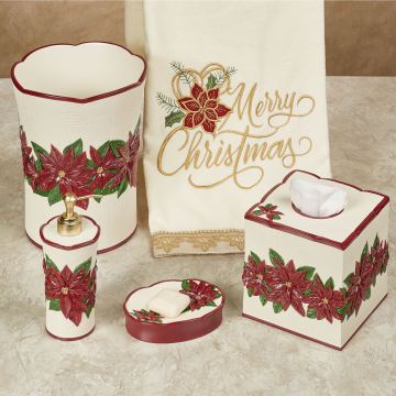 Poinsettia Charm Bath Accessories
