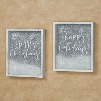 Christmas Sentiment Wall Art Set