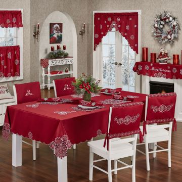 Snowflake Holiday Table Linens