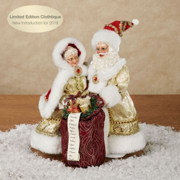 Golden Years Clothtique Santa and Mrs. Claus Figurine