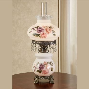 Brook Floral Hurricane Table Lamp