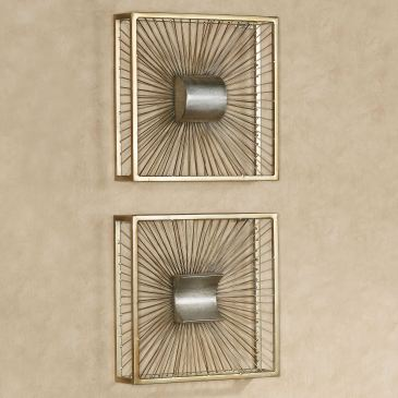 Thalia Gold Metal Wall Art Set
