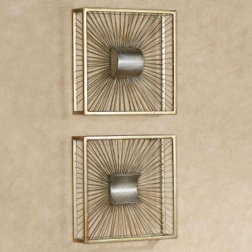 Thalia Gold Metal Wall Art Set