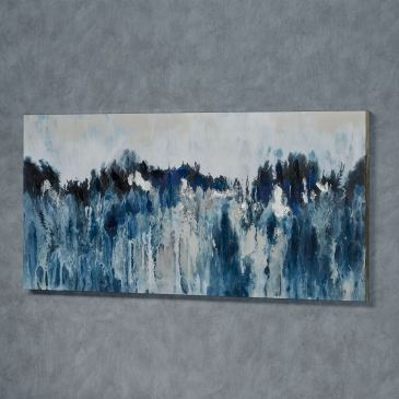 Rhapsody in Blues Abstract Canvas Wall Art